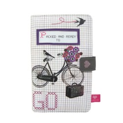Billetera viaje bicicleta y flores 'And sew on' Disaster Designs