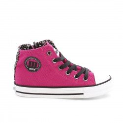 Bota lona fucsia cremallera Mustang by the Fest