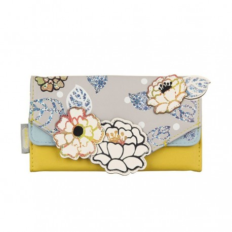 Billetera parches flores PVC colección Carnaby Disaster Designs
