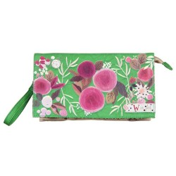 "Bolso clutch verde-flores""W is for..."" Ampersand Disaster Designs"