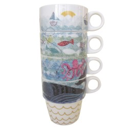 Set 4 tazas apilables alta mar Disaster Designs