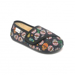 Zapatillas Rodia Original Calaveras Mexicanas lona multicolor