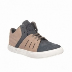 Botines Chetto piel gris y taupe