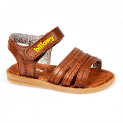 Sandalias marrones tiras piel Billowy 5555C95