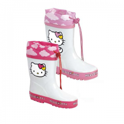 Botas de agua Hello Kitty nubes disponible en 2 colores rosa y fucsia
